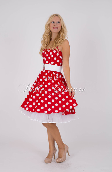 1950s Petticoat Kleid Bubblegum red