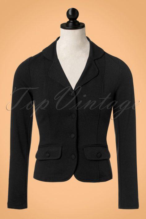 40s Milano Crepe Blazer Jacket in Black