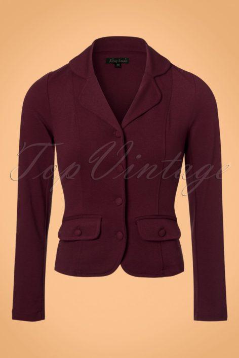 40s Milano Crepe Blazer Jacket in Porto Red