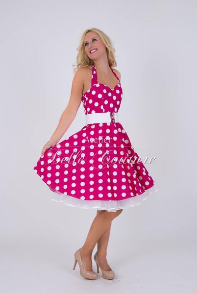 1950s Petticoat Kleid Bubblegum pink
