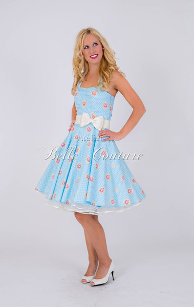 1950s Petticoat Kleid Candy Rose Blue