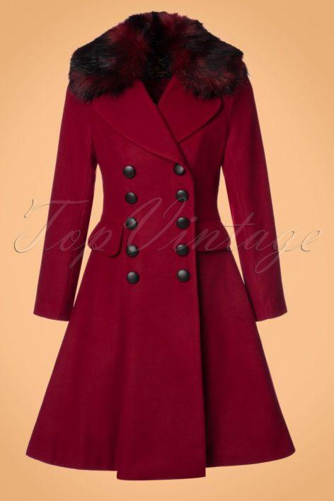 50s Milan Coat in Burgundy