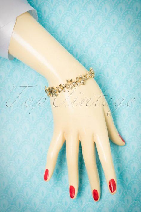 30s Layla Floral Bracelet in Gold