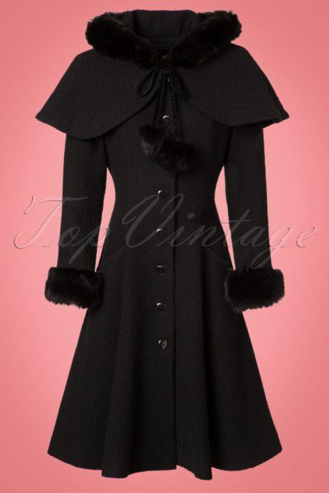 40s Adelita Coat and Cape in Black