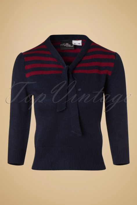 40s Darcey Jumper in Navy