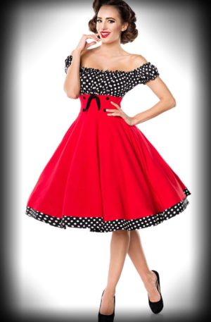 Belsira – Schulterfreies Swingkleid Carry Ann von Rockabilly Rules