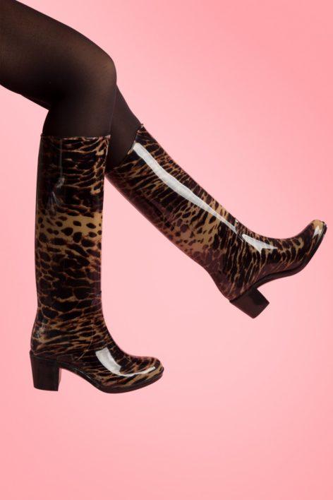 Grrr Leopard Rain boots