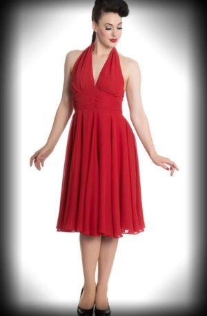 """Hell Bunny – Neckholder Kleid """"Monroe"""" von Rockabilly Rules"""