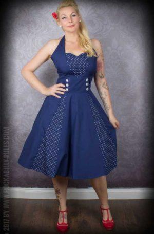 Neckholder Petticoatkleid mit Anker von Rockabilly Rules