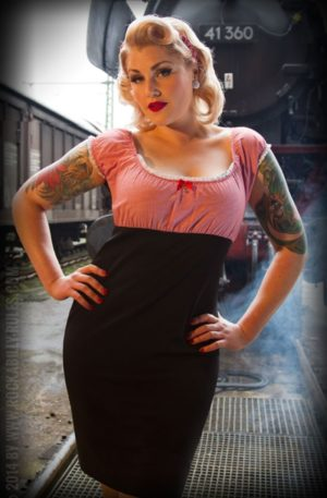 Rumble59 Ladies – Carmenkleid – Sweet Vichy von Rockabilly Rules