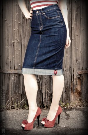 Rumble59 Ladies Denim – Perfect Pencil Skirt von Rockabilly Rules