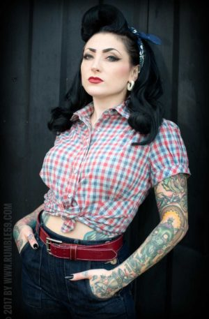 Rumble59 Ladies – Karo Bluse – Good Golly Miss Molly von Rockabilly Rules