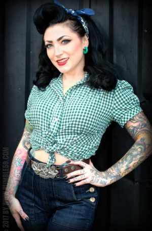 Rumble59 Ladies – Karo Bluse – Peggy Sue von Rockabilly Rules