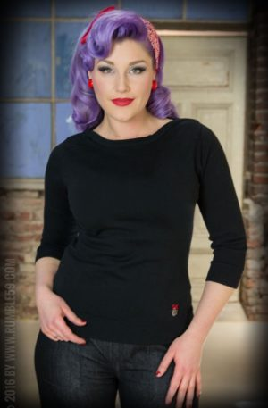 Rumble59 Ladies – Pullover – The Girl in Black von Rockabilly Rules