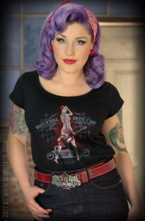 Rumble59 – Ladies Scoop Neck Shirt – Until I Die von Rockabilly Rules