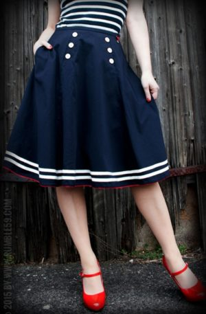 Rumble59 Ladies – Tellerrock – Ahoi Sailor! von Rockabilly Rules