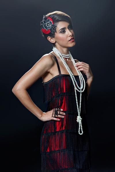 20er Charleston Kleid Rot oder Lila Gatsby