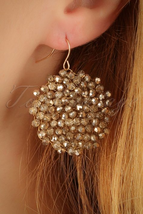 20s Faye Beads Earrings in Gold