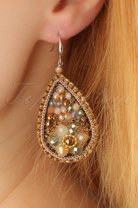 20s Gia Gem Earrings in Gold