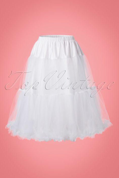 50s Polly Petticoat in White