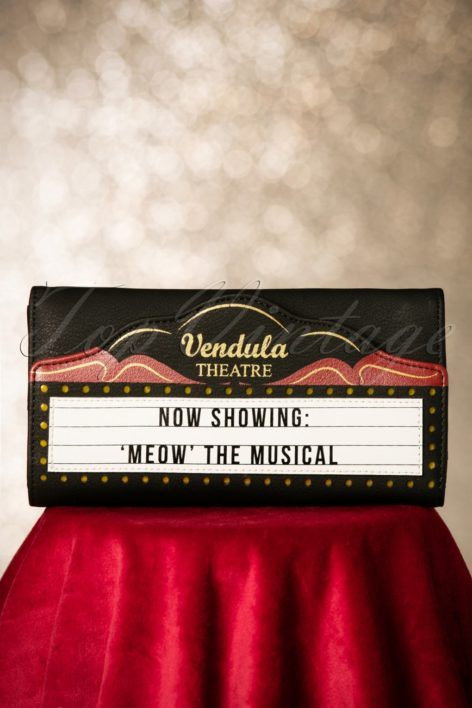 20s Cinema Meow Fold Over Wallet