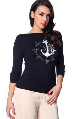 Banned Pullover Anchors away von Rockabilly Rules