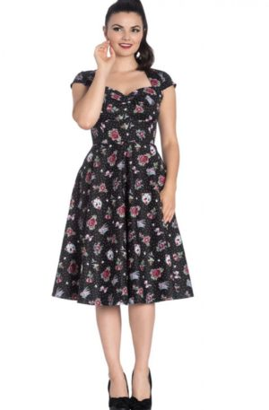Hell Bunny – Rockabella Polkadot Swingkleid Stevie von Rockabilly Rules