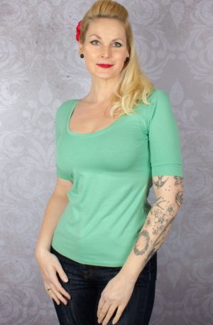 King Louie – Short Ballerina Top Island Green | Grün von Rockabilly Rules