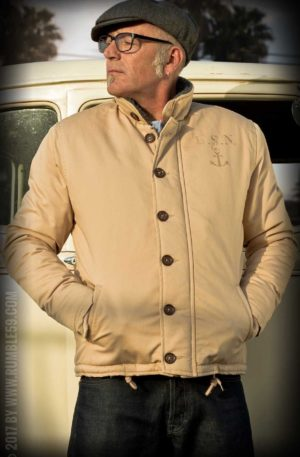 Rumble59 – Deck Jacket – beige von Rockabilly Rules