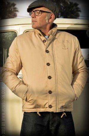 Rumble59 – Deck Jacket – beige von Rockabilly Rules