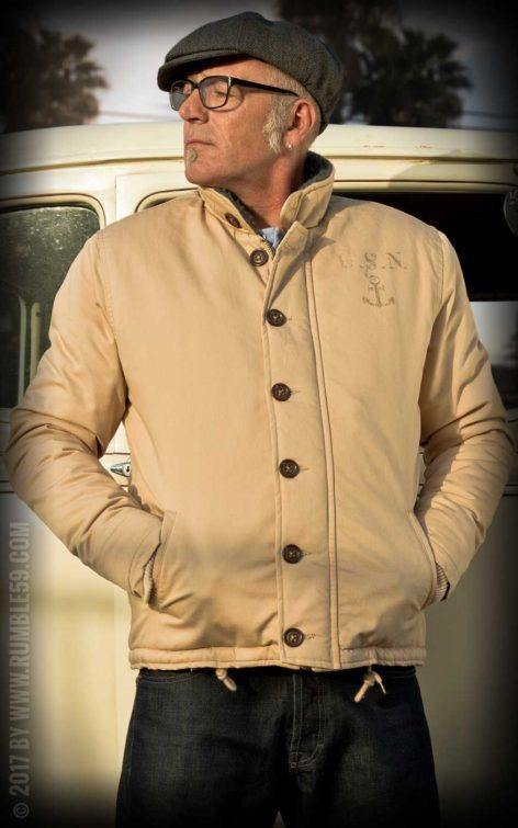 Rumble59 - Deck Jacket - beige von Rockabilly Rules
