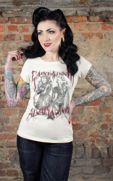 Rumble59 - Ladies T-Shirt - Saint or Sinner - offwhite von Rockabilly Rules
