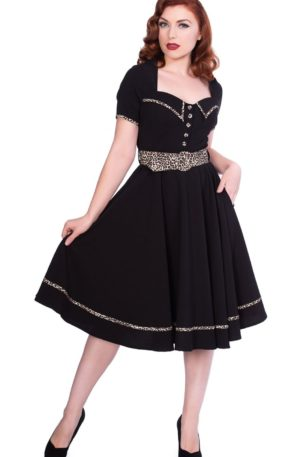 Sheen Clothing Swing Kleid Hot Leopard Yael von Rockabilly Rules