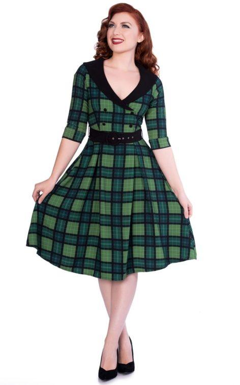 Sheen Clothing Swing Kleid Poison Green Raakel von Rockabilly Rules