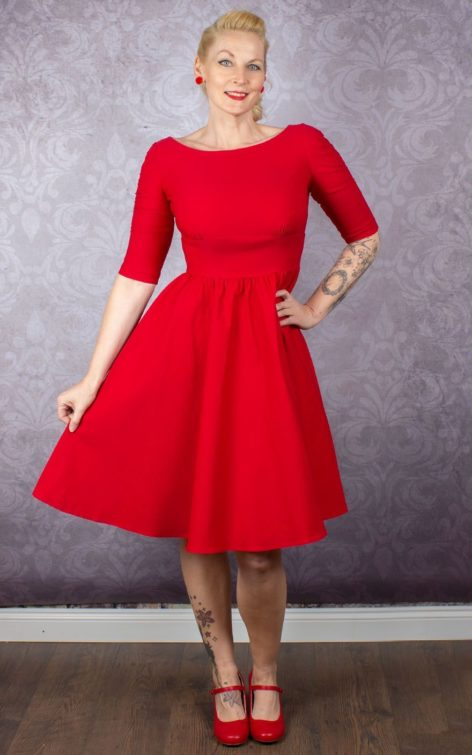 Stop Staring Kleid - Lady in Red von Rockabilly Rules
