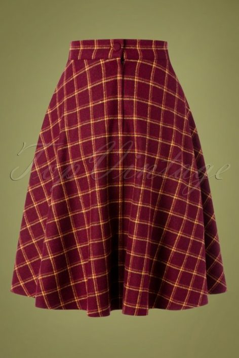 40s Another Fab Swing Skirt in Burgundy