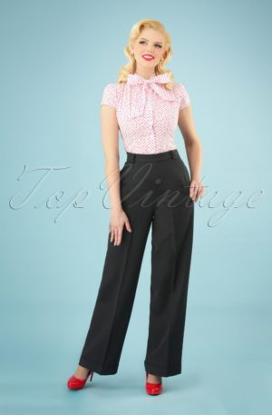 40s Party On Classy Trousers in Black