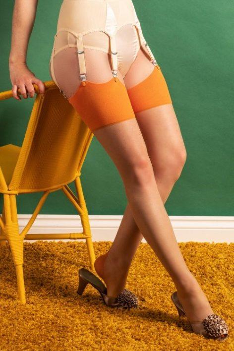 40s Retro Seamed Stockings in Pumpkin Spice