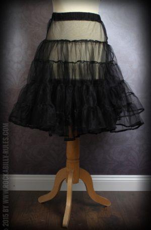 50er Jahre PinUp Petticoat – schwarz von Rockabilly Rules
