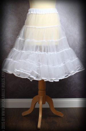 50er Jahre PinUp Petticoat – weiß von Rockabilly Rules