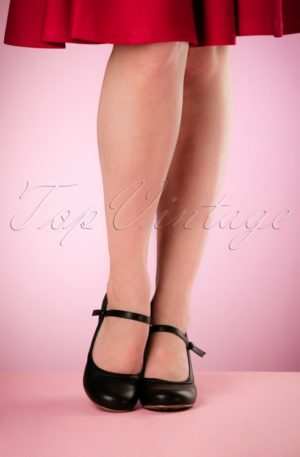 50s Bettie Pumps in Black