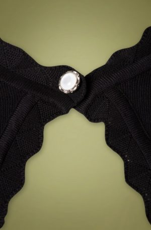 50s Bree Bolero in Black