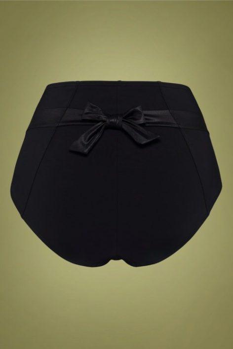 50s Cache Coeur High Waist Briefs in Black