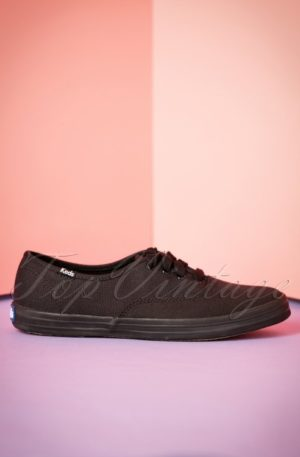 50s Champion Core Text Sneakers in All Black