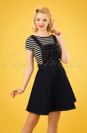 50s Dakota Pinafore Dress in Denim