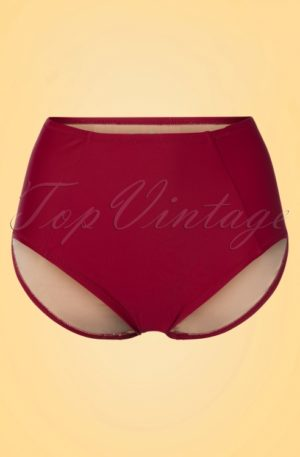 50s Elizabeth Bikini Pants in Burgundy