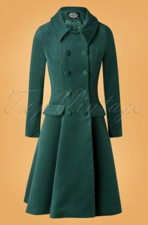 50s Evelyn Swing Coat in Green