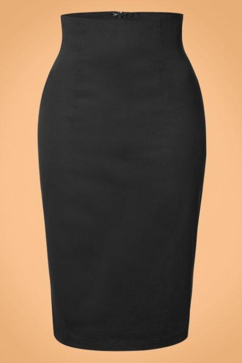50s Falda Pencil Skirt in Black