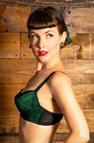 50s Gilda Bra in Emerald Green