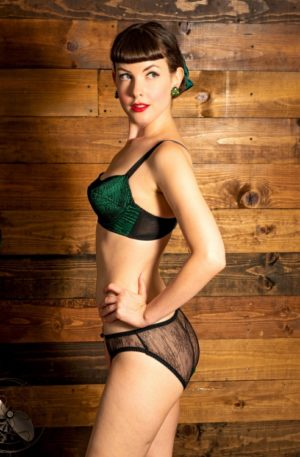 50s Gilda Little Knickers in Emerald Green